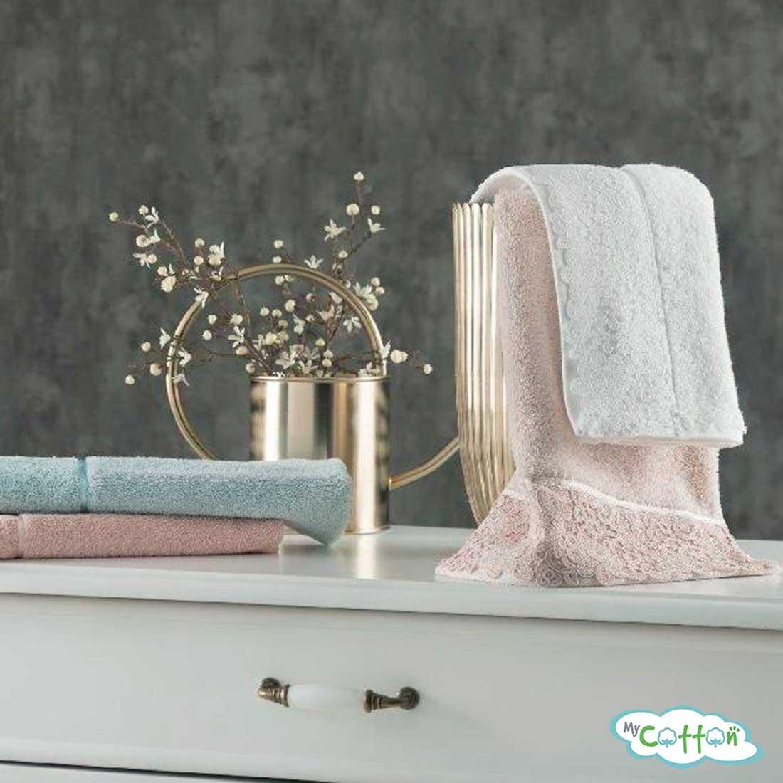 Полотенце махровое Tivolyo Home розовое FORZA