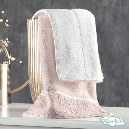 Полотенце махровое Tivolyo Home розовое FORZA-