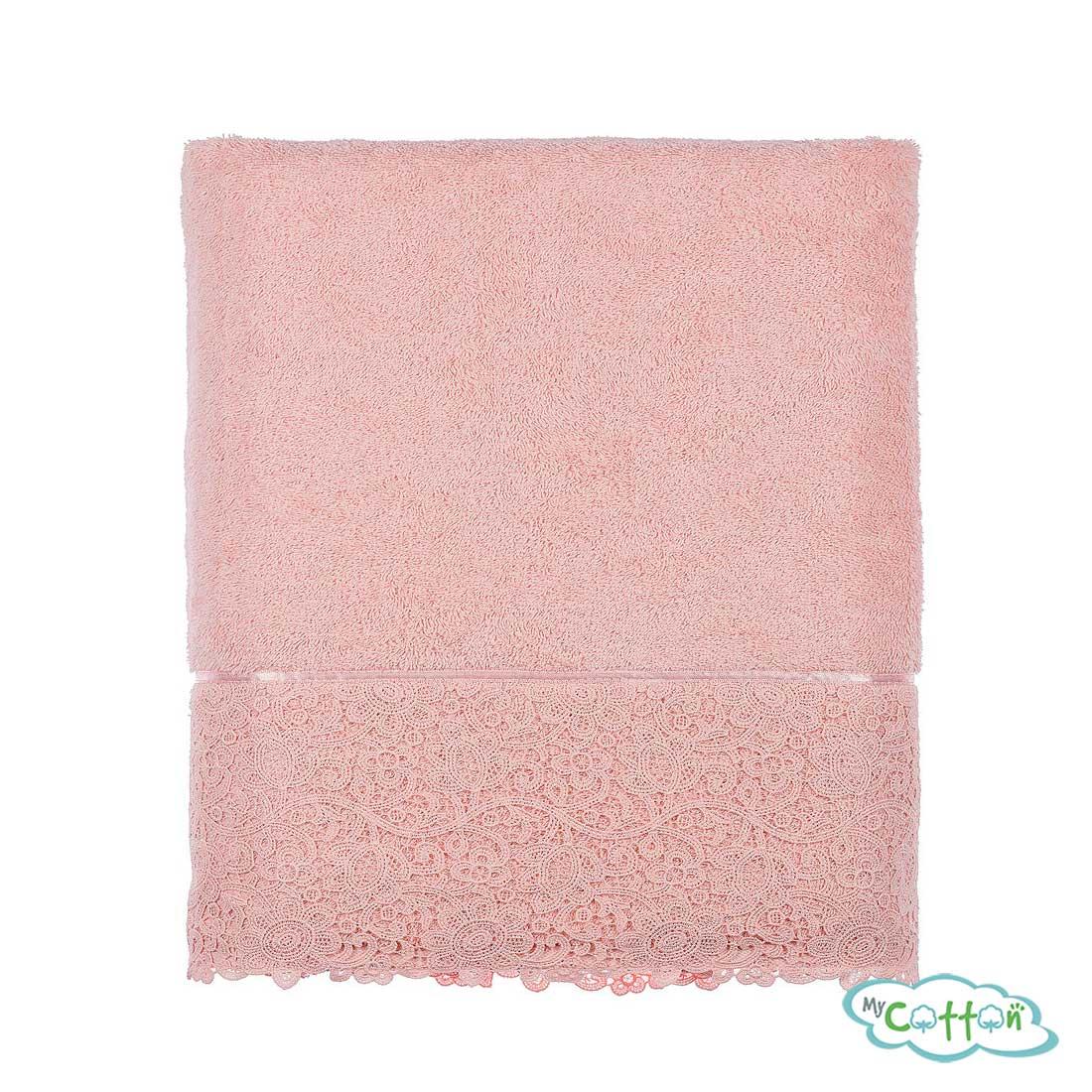 Полотенце махровое Tivolyo Home розовое FORZA_