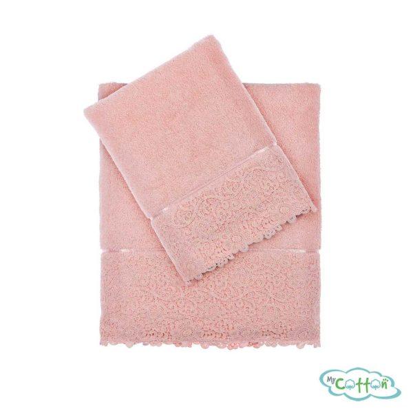 Полотенце махровое Tivolyo Home розовое FORZA=