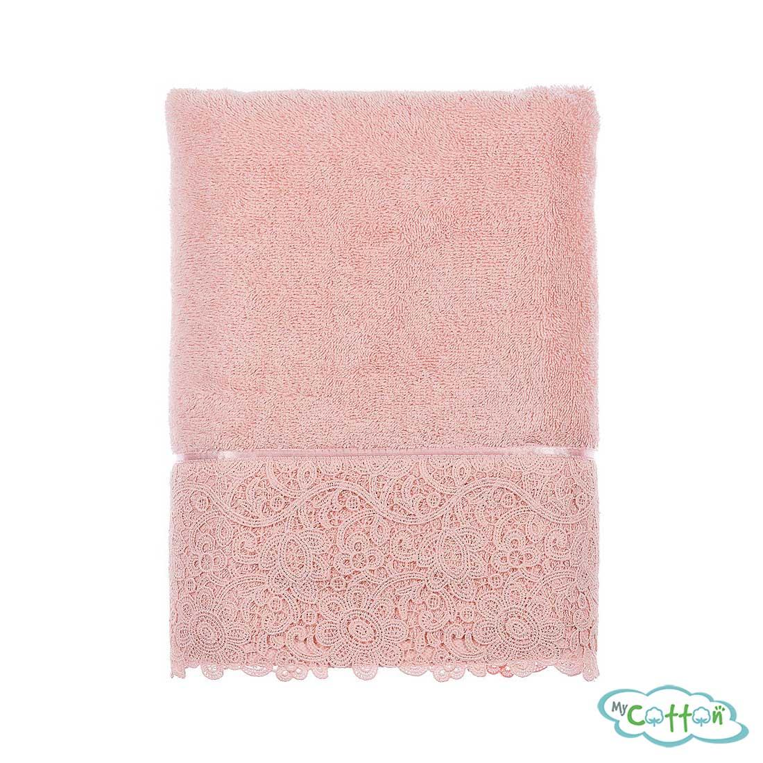 Полотенце махровое Tivolyo Home розовое FORZA+