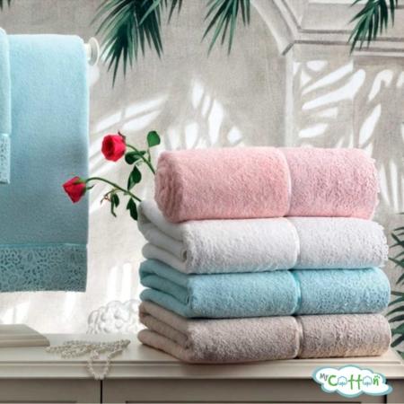 Полотенце махровое Tivolyo Home розовое FORZA/