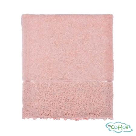 Набор из трёх полотенец махровых Tivolyo Home розовый FORZA