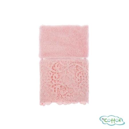 Набор из трёх полотенец махровых Tivolyo Home розовый FORZA/