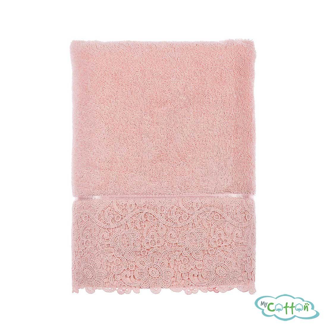 Набор из трёх полотенец махровых Tivolyo Home розовый FORZA>