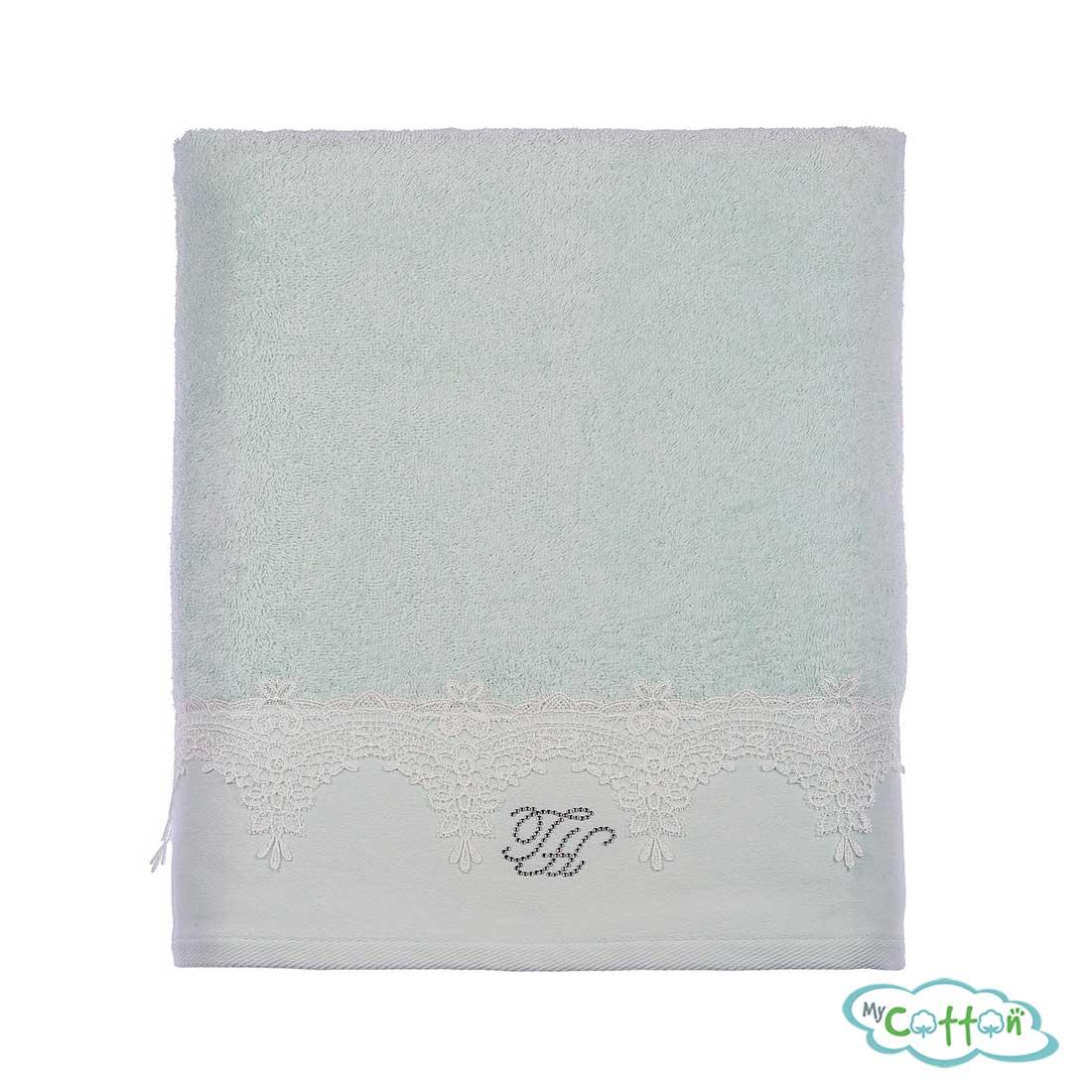Набор из двух полотенец махровых Tivolyo Home бирюзовый JULIET=