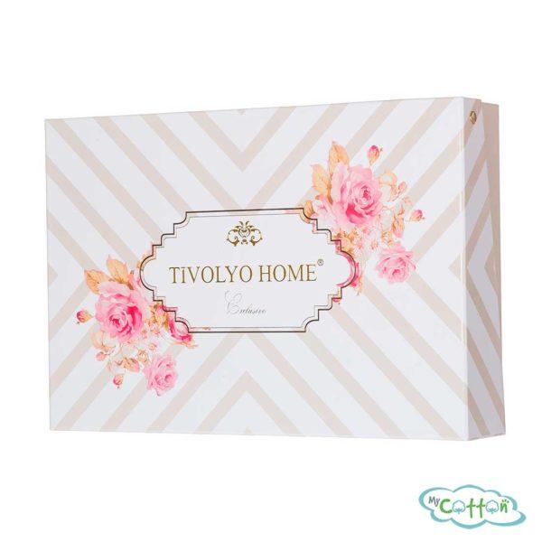 Набор из двух полотенец махровых Tivolyo Home кремовый JULIET