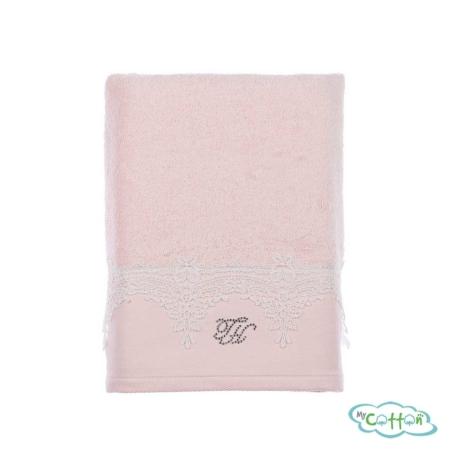 Полотенце махровое Tivolyo Home розовое JULIET/