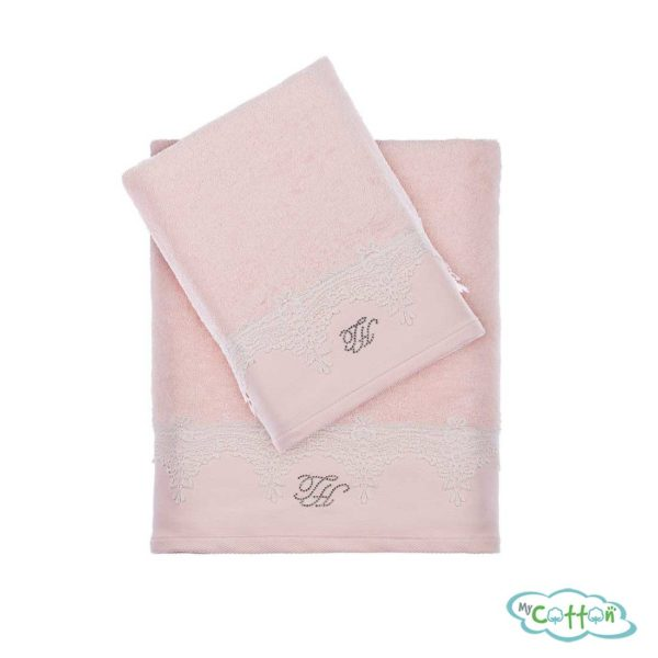 Полотенце махровое Tivolyo Home розовое JULIET