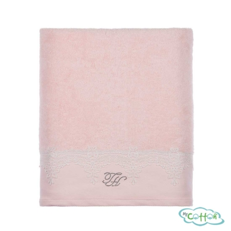 Полотенце махровое Tivolyo Home розовое JULIET-