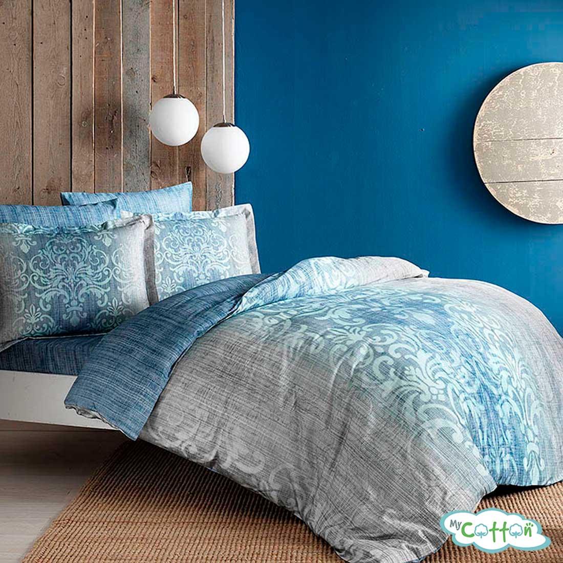 Комплект постельного белья TAC, LEORA голубой