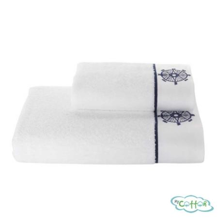 Полотенце махровое Soft Cotton белое MARINE LADY