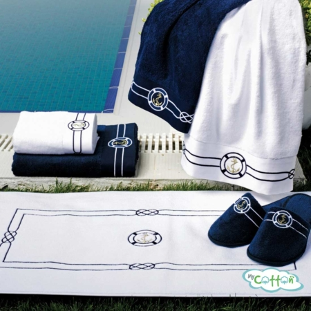 Полотенце махровое Soft Cotton темно-синее MARINE-