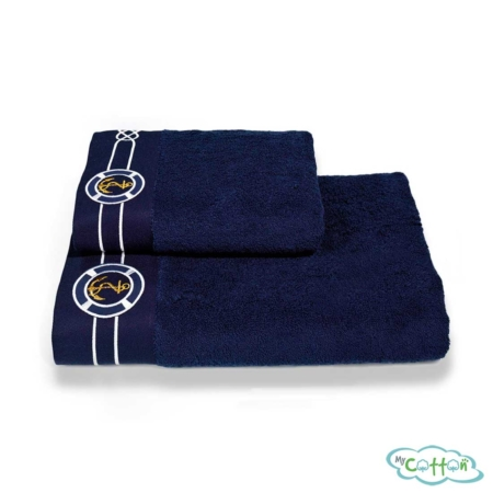 Полотенце махровое Soft Cotton темно-синее MARINE