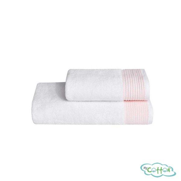 Махровое полотенце Soft Cotton розовое MOLLIS