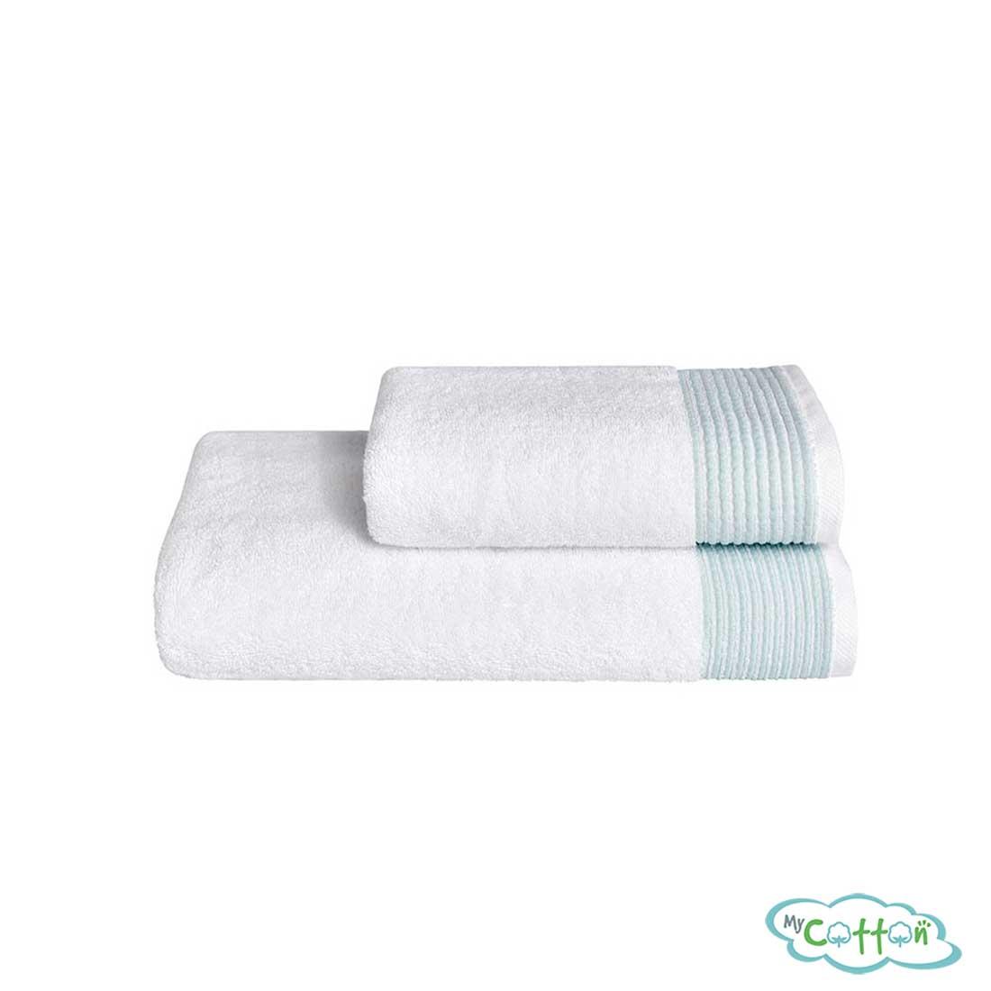 Махровое полотенце Soft Cotton зелёное MOLLIS