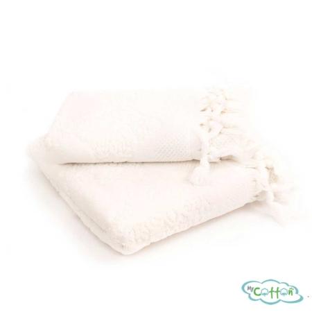 Набор махровых полотенец Tivolyo Home кремовый NERVURES