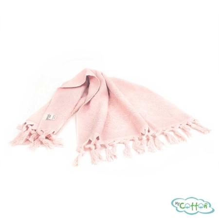 Набор махровых полотенец Tivolyo Home розовый NERVURES-