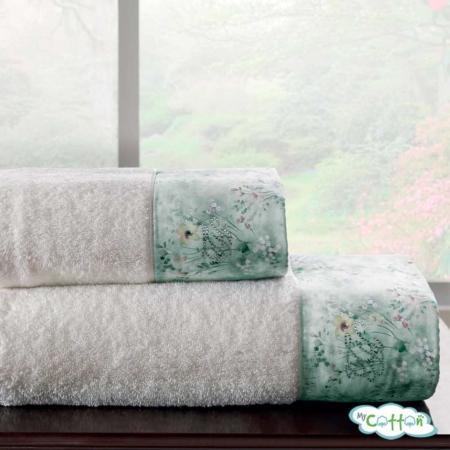 Набор махровых полотенец Tivolyo Home белые POLINA
