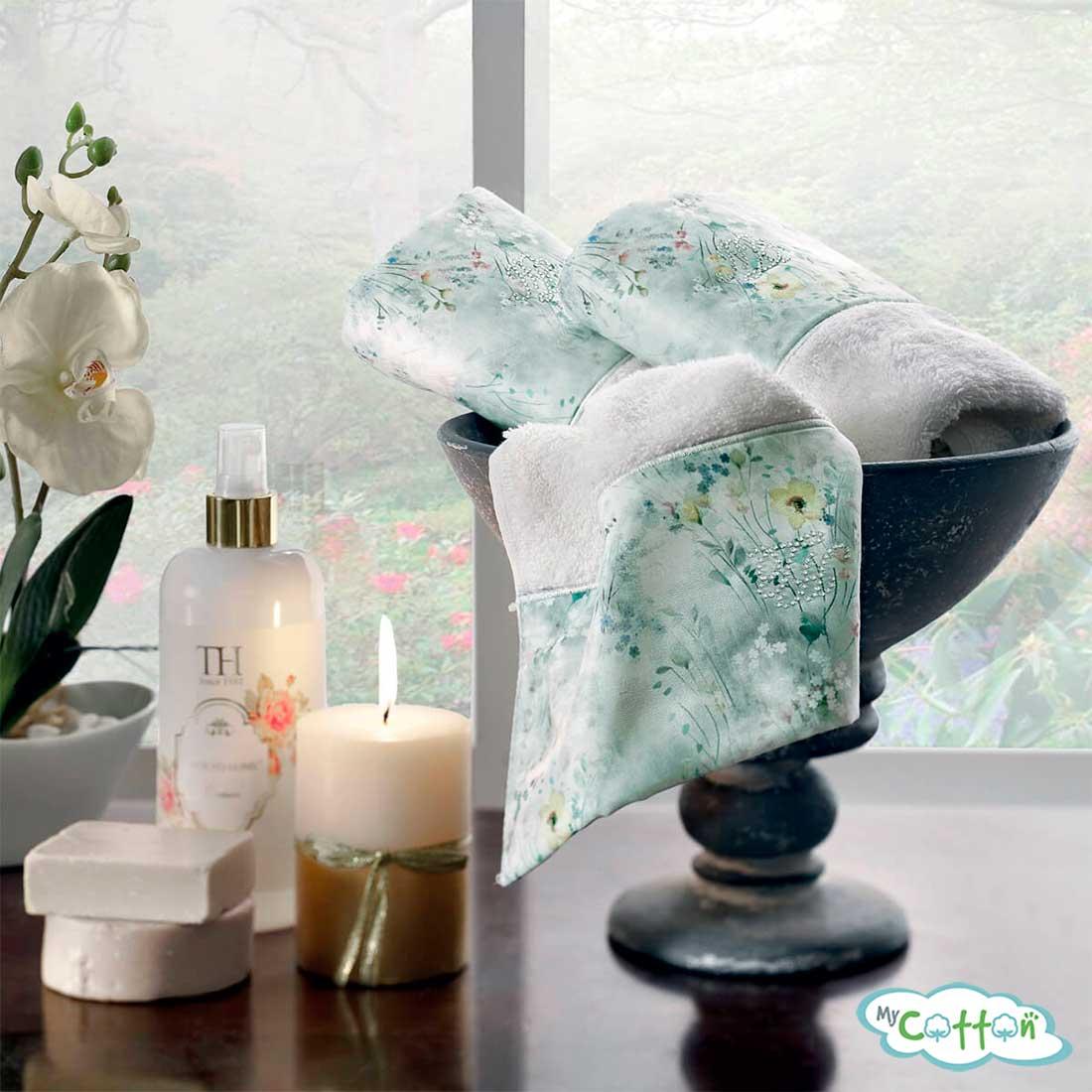 Набор махровых полотенец Tivolyo Home белые POLINA-
