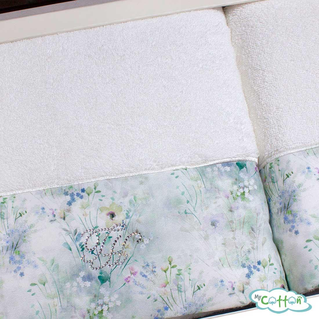 Набор махровых полотенец Tivolyo Home белые POLINA_