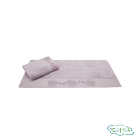 Полотенце махровое Soft Cotton лиловое QUEEN