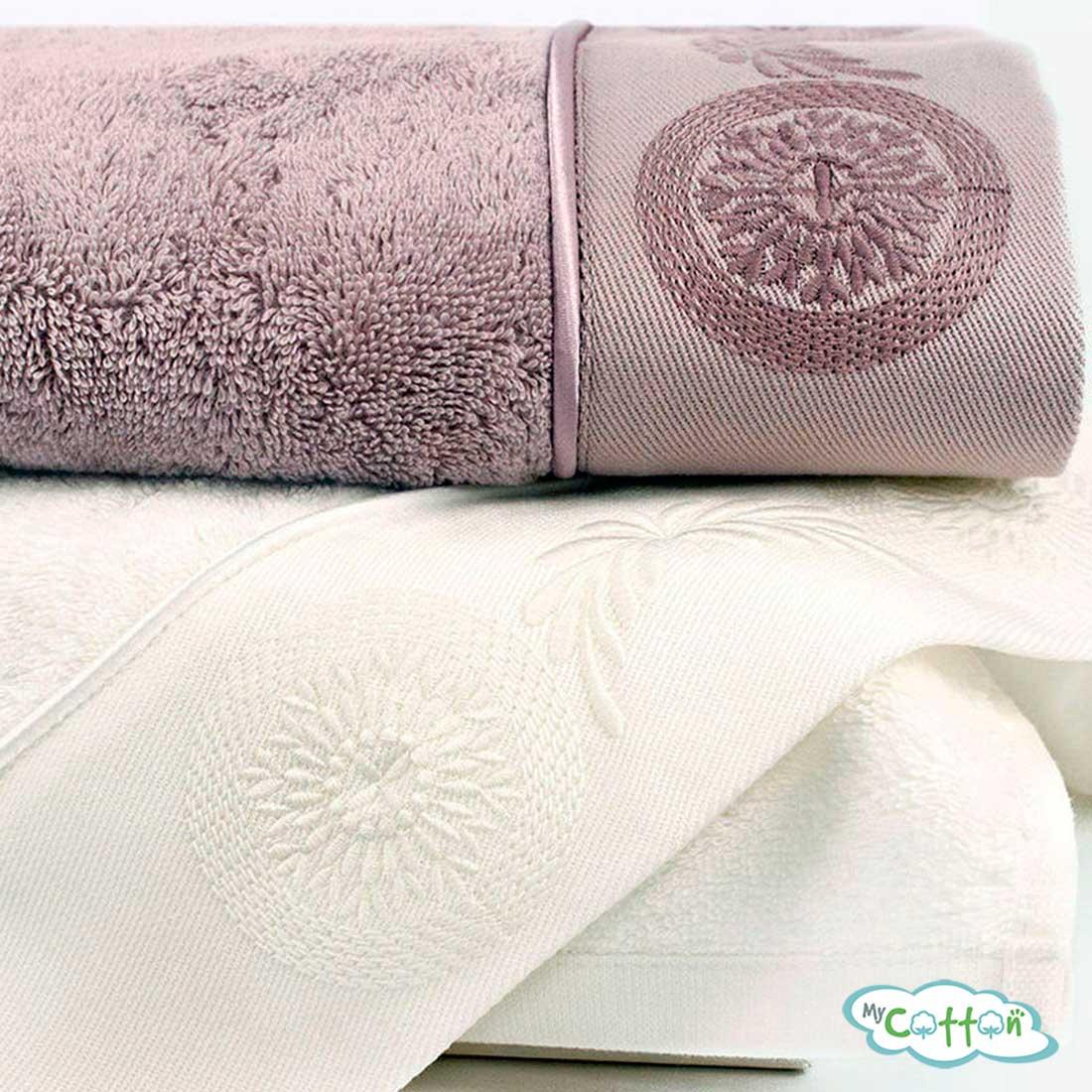Полотенце махровое Soft Cotton молочное QUEEN