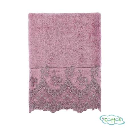 Полотенце махровое Tivolyo Home фиолетовое REGINA