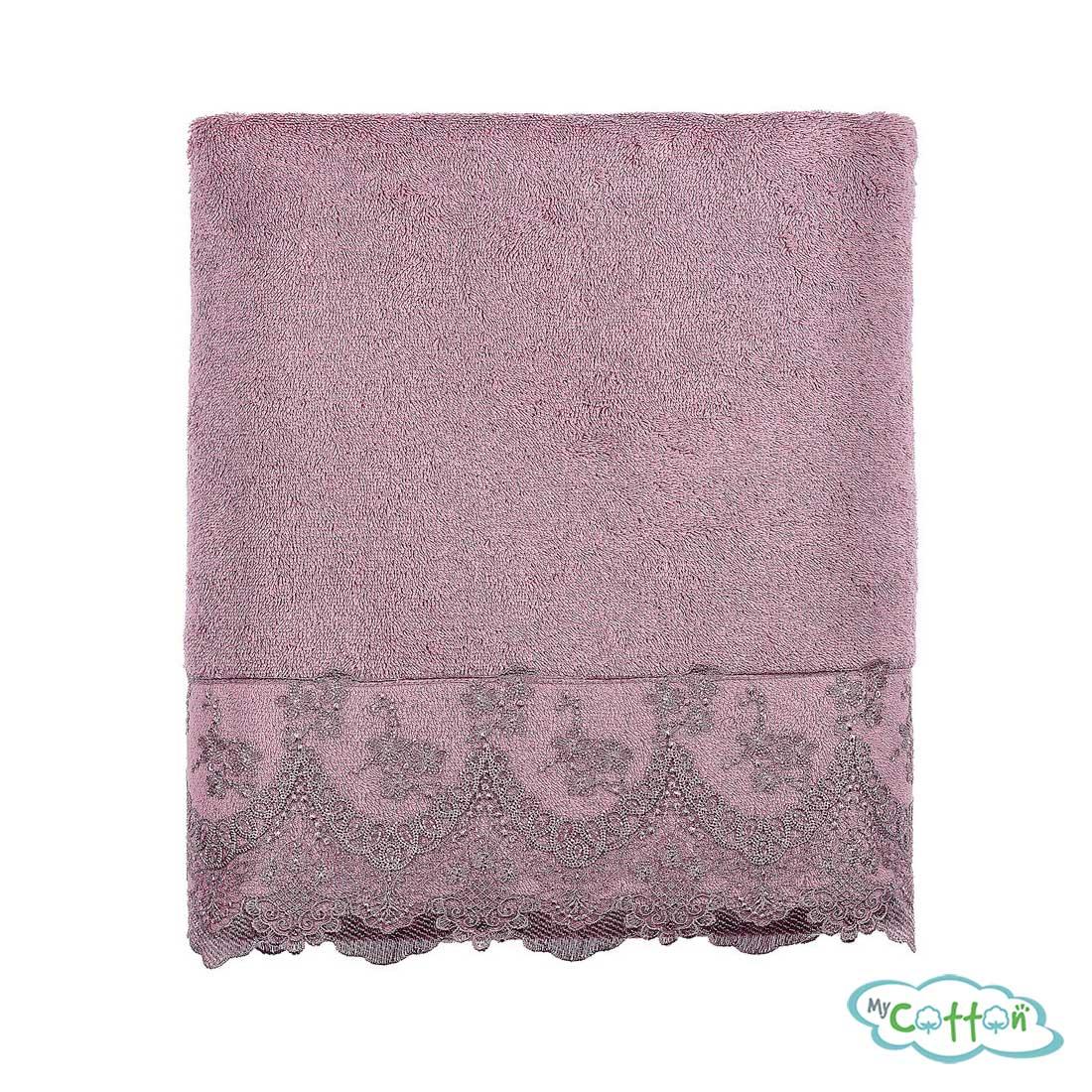 Полотенце махровое Tivolyo Home фиолетовое REGINA1