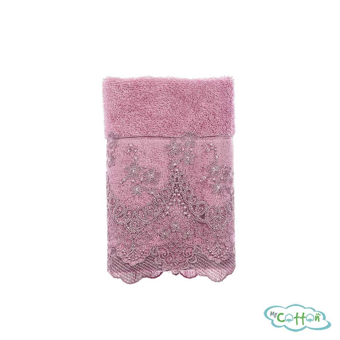 Полотенце махровое Tivolyo Home фиолетовое REGINA3