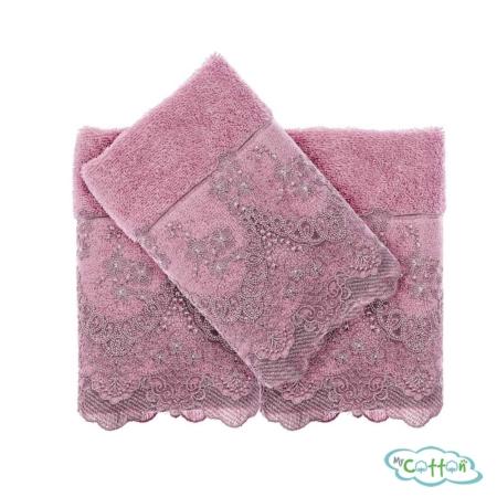 Полотенце махровое Tivolyo Home фиолетовое REGINA5