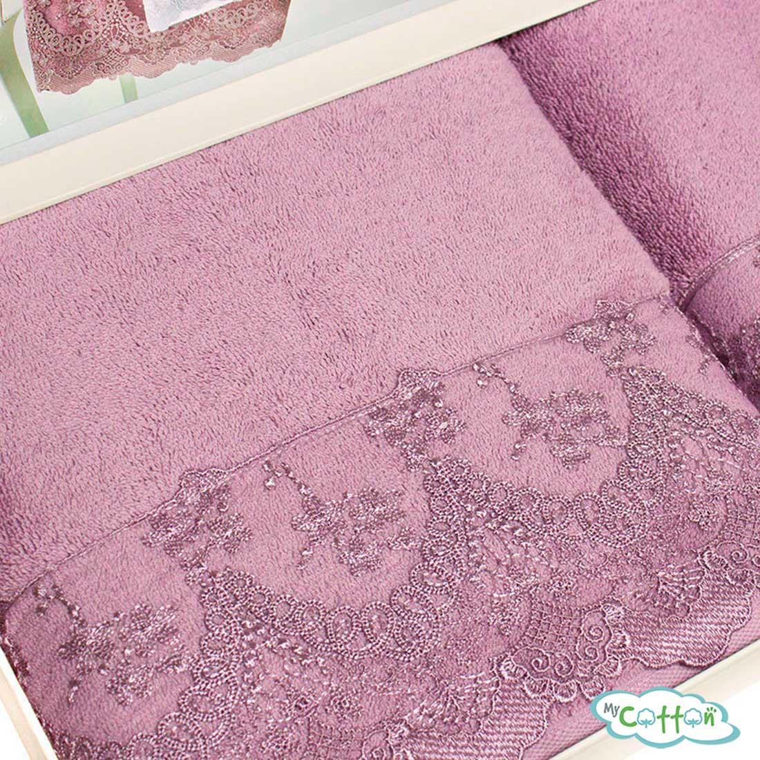 Полотенце махровое Tivolyo Home фиолетовое REGINA-