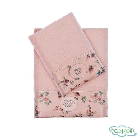 Полотенце махровое Tivolyo Home розовое ROSELAND LUX