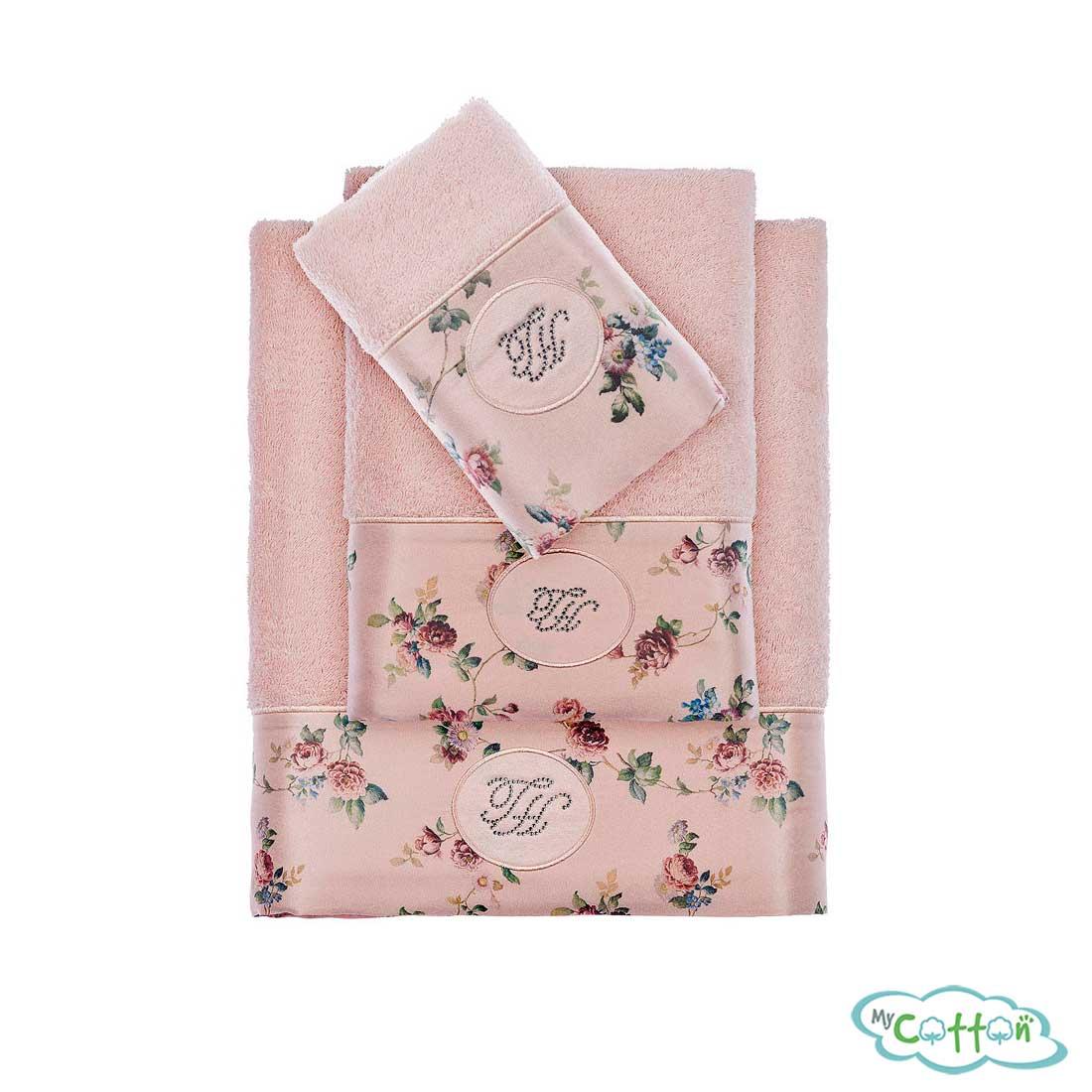 Полотенце махровое Tivolyo Home розовое ROSELAND LUX-