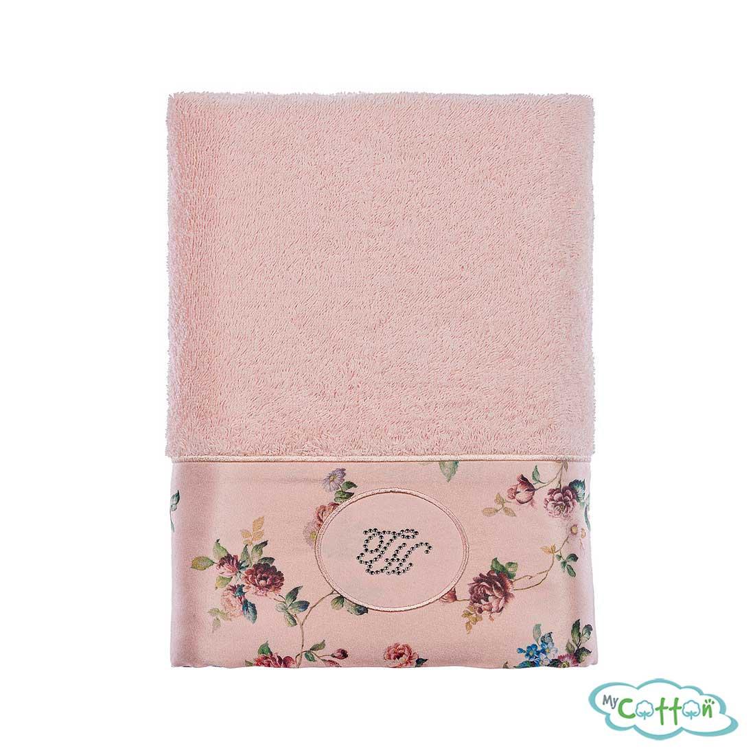 Полотенце махровое Tivolyo Home розовое ROSELAND LUX/
