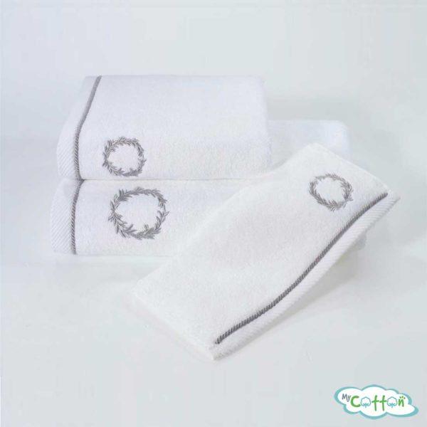 Полотенце махровое Soft Cotton белое SEHZADE