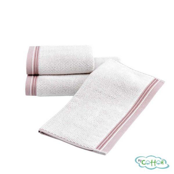 Набор махровых полотенец Soft Cotton с кофейным кантомTERRA