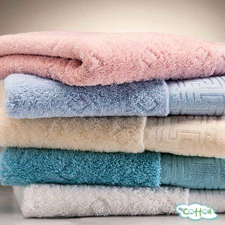 Полотенце махровое Soft Cotton светло-голубое VERA