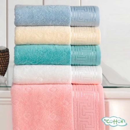 Полотенце махровое Soft Cotton белое VERA