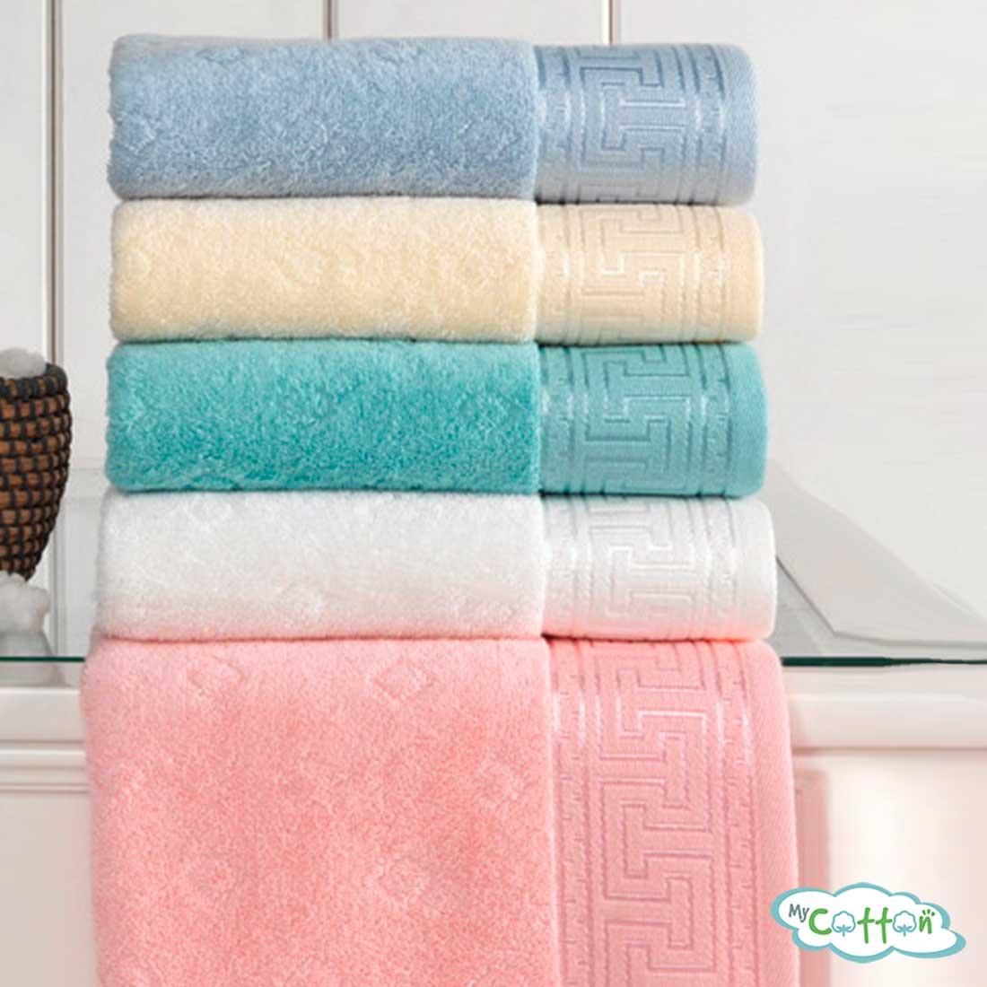 Полотенце махровое Soft Cotton оранжевоеVERA