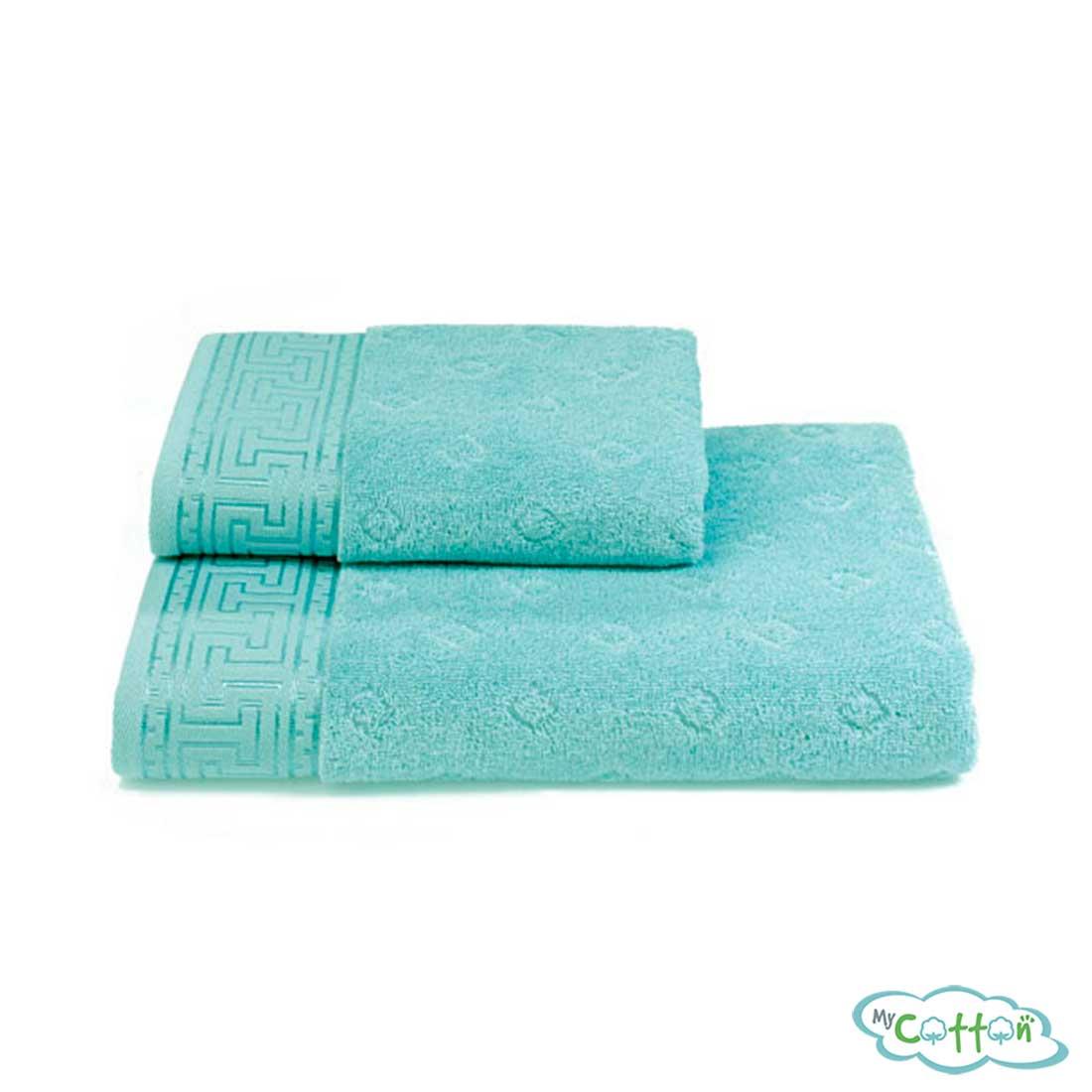 Полотенце махровое Soft Cotton бирюзовое VERA