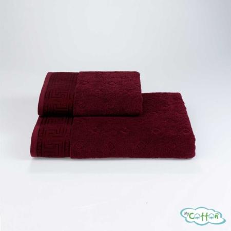 Полотенце махровое Soft Cotton бордовое VERA