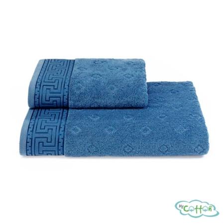 Полотенце махровое Soft Cotton голубое VERA