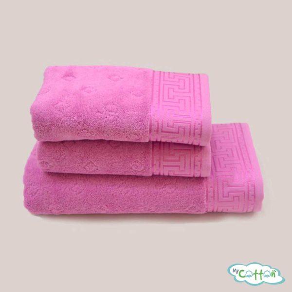 Полотенце махровое Soft Cotton малиновое VERA