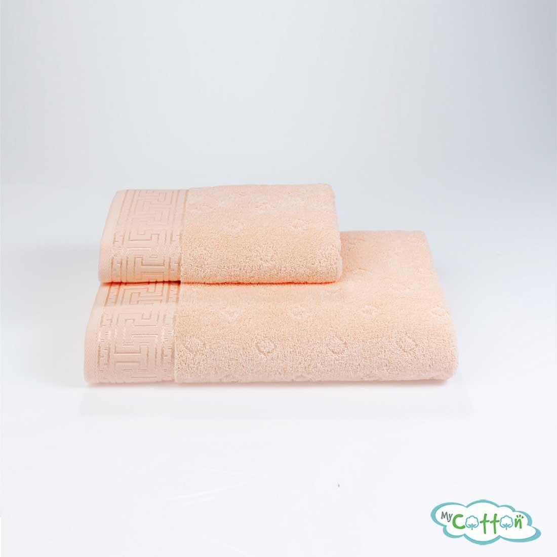 Полотенце махровое Soft Cotton персиковое VERA