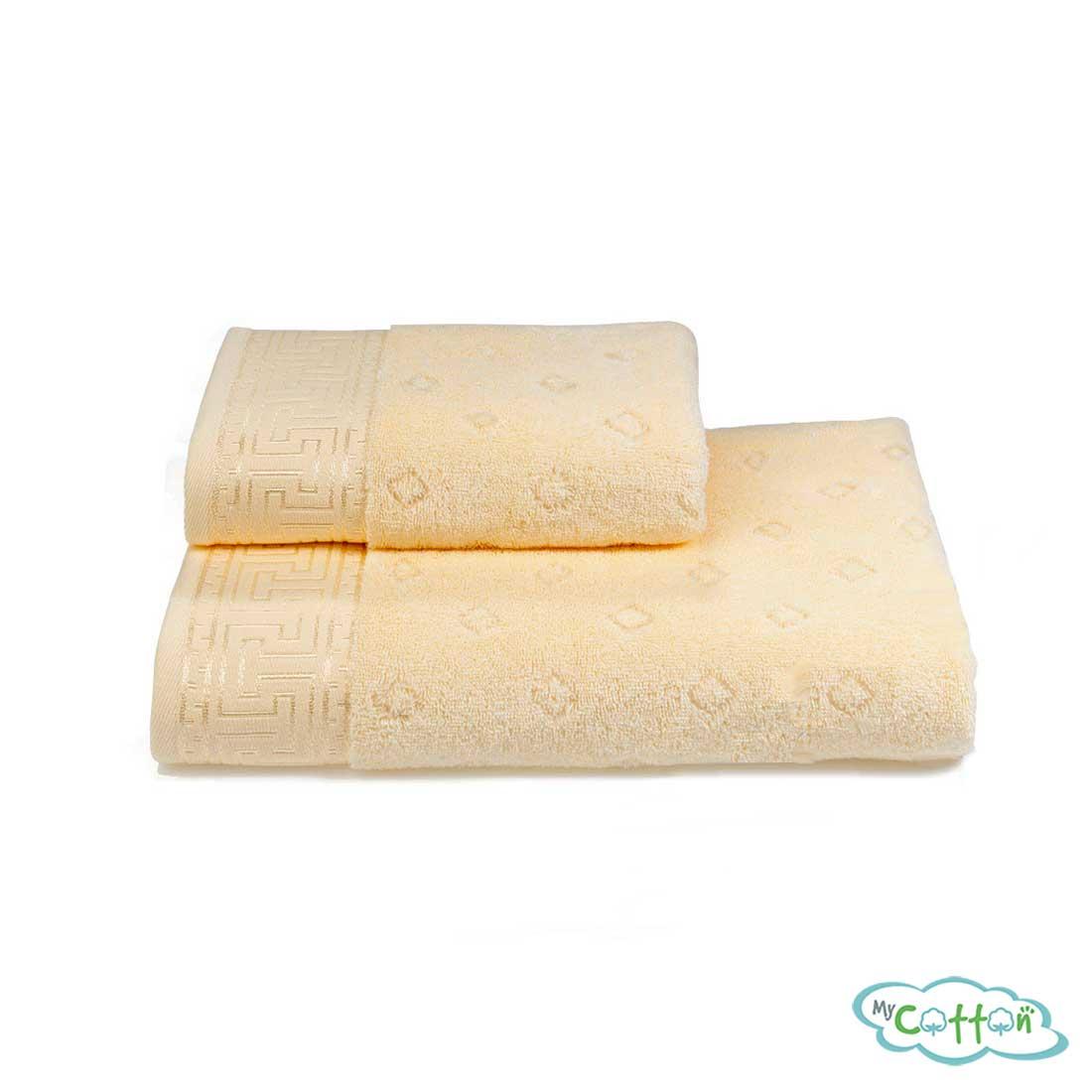 Полотенце махровое Soft Cotton желтое VERA