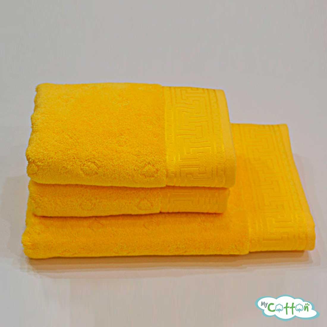 Полотенце махровое Soft Cotton ярко-желтое VERA