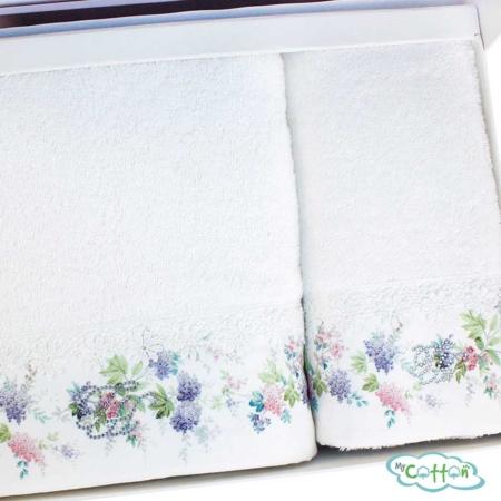 Набор махровых полотенец Tivolyo Home белое VERSAILES