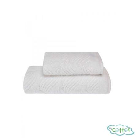 Полотенце махровое Soft Cotton белое WAVE