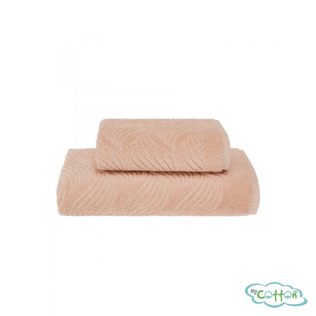 Полотенце махровое Soft Cotton светло-бежевое WAVE